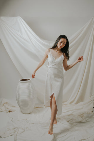 Broken White Wrap Dress