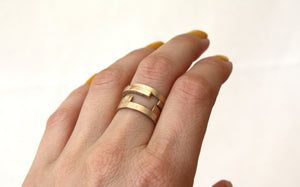 Louie Jewelry - Geo Stripped Ring