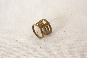 Louie Jewelry - Geo Ribcage Ring