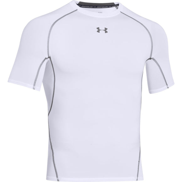 UNDER ARMOUR MEN'S HEATGEAR COMPRESSION T-SHIRT (WHITE)