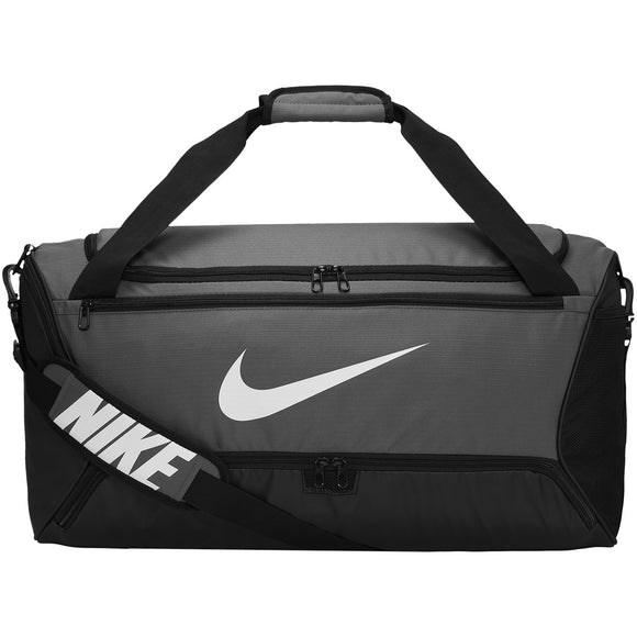 NIKE BRASILIA MEDIUM DUFFEL BAG (GREY)
