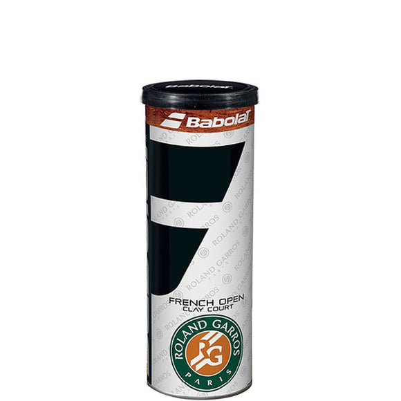 SINGLE CAN OF 3 BABOLAT FRENCH OPEN CLAY COURT BALLS