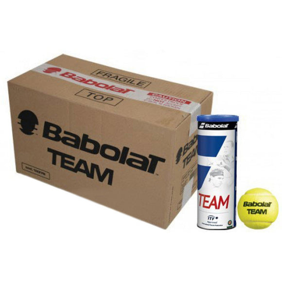 CASE OF 30 CANS OF 3 BABOLAT TEAM BALLS