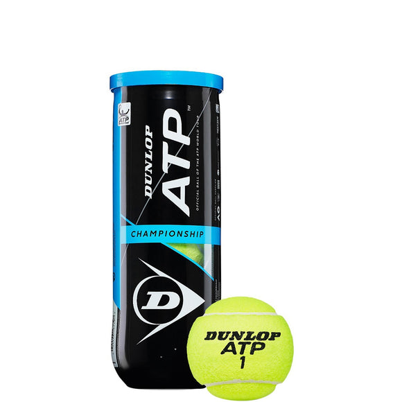 SINGLE CAN OF 3 DUNLOP ATP CHAMPIONSHIP BALLS