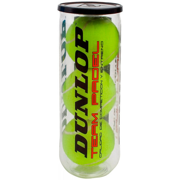 CAN OF 3 DUNLOP TEAM PADEL BALLS