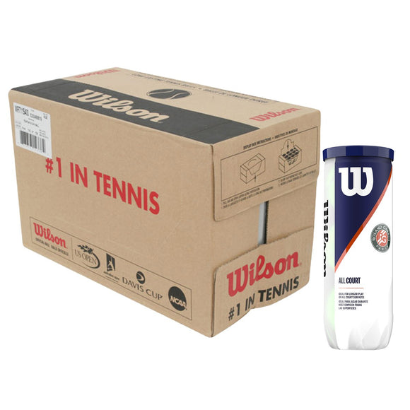 CASE OF 24 CANS OF 3 WILSON FRENCH OPEN ALL COURT BALLS