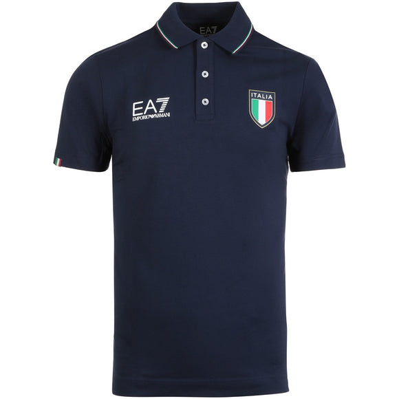 EA7 MEN'S ITALIA OFFICIAL TEAM POLO (NAVY)