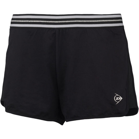 DUNLOP WOMEN'S PERFORMANCE SHORT (BLACK)