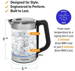 1.8L Stainless Steel Glass Electric Kettle-11