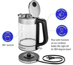 1.8L Stainless Steel Glass Electric Kettle-7