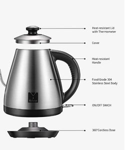 -Stainless Steel Quick Heating Water Kettle Teapot-7