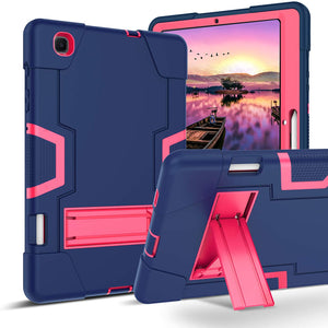 "GUAGUA Galaxy Tab S6 Lite 10.4"" 2020 WiFi SM-P610/LTE SM-P615 with S Pen Holder Kickstand 3 in 1 Hybrid Heavy Duty Shockproof Protective Tablet Case for Samsung Galaxy Tab S6 Lite 2020 Navy Blue/Rose"