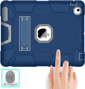 BENTOBEN iPad 3 Case, iPad 2 Case, iPad 4 Case, Lightweight Slim Heavy Duty High Impact Resistant Rugged Hybrid Cover Full Protective Kickstand Smart Case, for iPad 2/3/4, Navy Blue