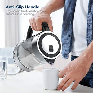 1.7L Stainless Steel Cordless Glass Kettle-3