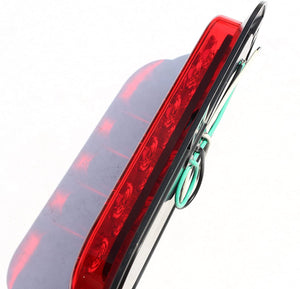 Red Oval Surface Mount LED Tail Lights-7