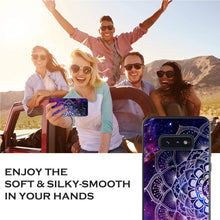 Load image into Gallery viewer, YINLAI Samsung Galaxy S10e Case Samsung S10e Phone Case Slim Fit Luminous Glow in Dark Mandala Shockproof Protective Hybrid Cover Soft Bumper Phone Case for Samsung Galaxy S10e,Purple/Space