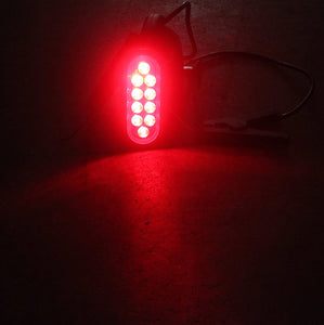 Red Oval Surface Mount LED Tail Lights-3