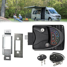 Load image into Gallery viewer, Black Remote-Control RV Keyless Entry Door Lock-11