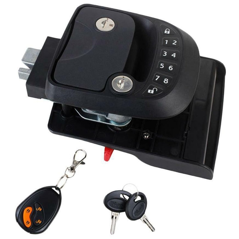 15M Remote-Control Black RV Keyless Entry Door Lock-11