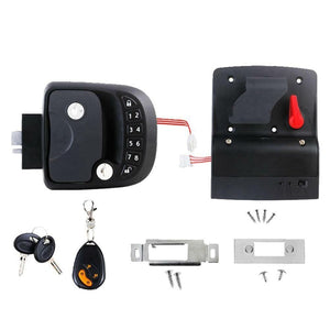 15M Remote-Control Black RV Keyless Entry Door Lock-13