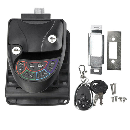 Black Remote-Control Metal RV Keyless Entry Door Lock-10