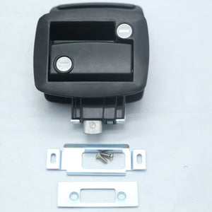 New Black RV Paddle Entry Door Lock-3