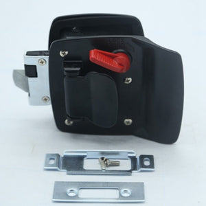 New Black RV Paddle Entry Door Lock-4