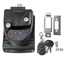 Load image into Gallery viewer, Black Remote-Control RV Keyless Entry Door Lock-12
