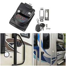 Load image into Gallery viewer, Black Remote-Control RV Keyless Entry Door Lock-10