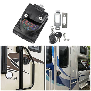 Black Remote-Control RV Keyless Entry Door Lock-10