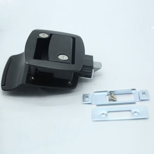 New Black RV Paddle Entry Door Lock-6