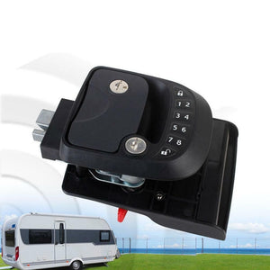 15M Remote-Control Black RV Keyless Entry Door Lock-12
