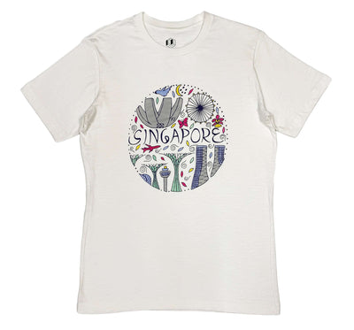 ROUND SINGAPORE SKYLINE T-shirt T-shirt by merk-box
