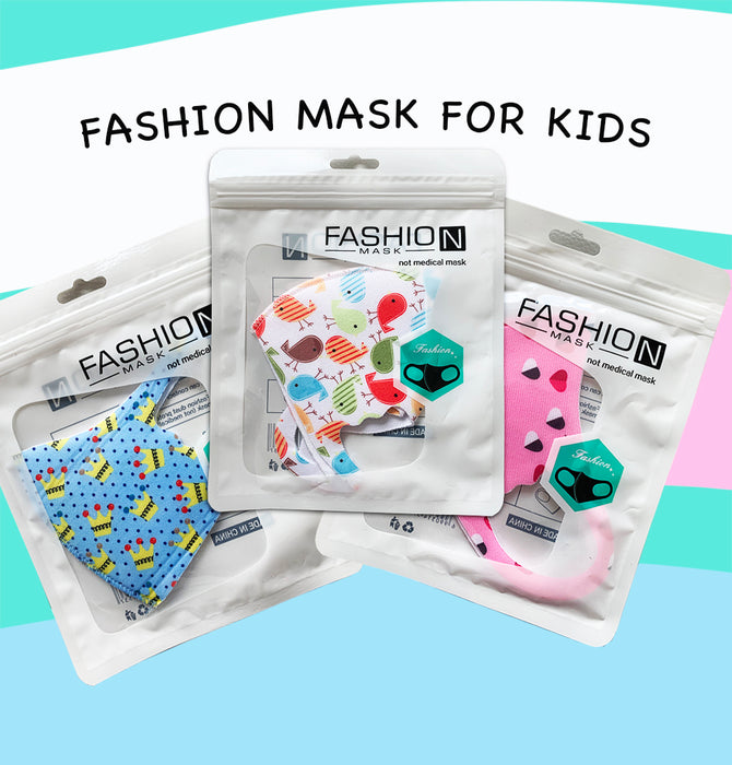 Fashion Mask For Kids (Reusable - Washable) - Variety of styles for kids