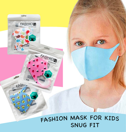 Fashion Mask For Kids (Reusable - Washable) - Snug Fit for kids