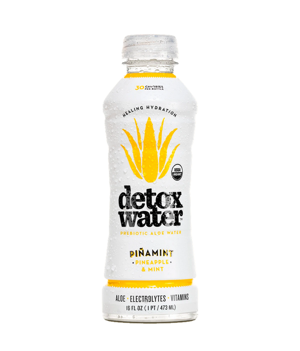Detoxwater - Prebiotic Aloe Water (16 fl. oz.) (12 Pack) - Various Flavors