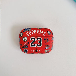 Red Jordan X Supreme Airpods Case 21designz