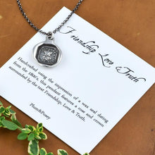 Load image into Gallery viewer, Friendship Necklace of a Rose and Crown - Friendship, Love and Truth