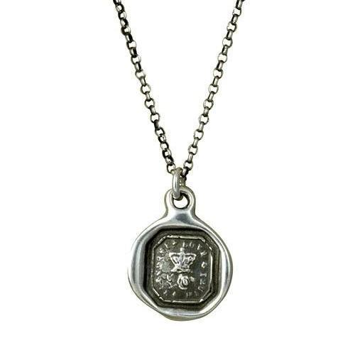 Friendship Necklace of a Rose and Crown - Friendship, Love and Truth