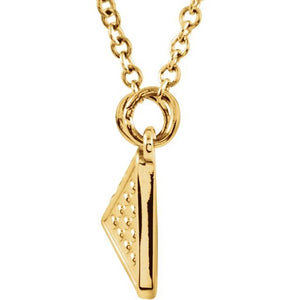 "14K Yellow Gold Granulated 18"" Necklace"