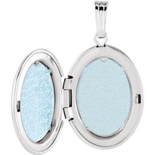 Load image into Gallery viewer, Sterling Silver Oval Locket