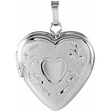 Load image into Gallery viewer, Sterling Silver 22.25x16 mm Heart Shape Locket