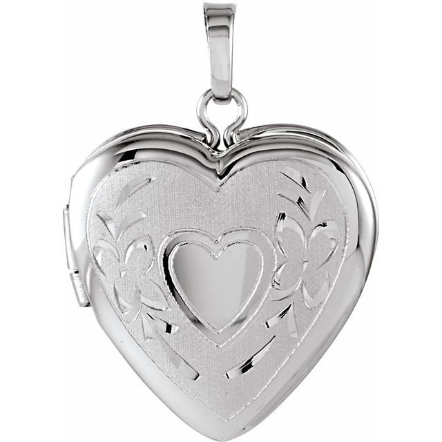 Sterling Silver 22.25x16 mm Heart Shape Locket
