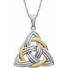 Load image into Gallery viewer, 14K Two-Tone Celtic-Inspired Pendant