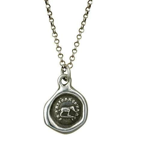 Elephant Wax Seal Necklace - I trust in myself- Trust Your Strength