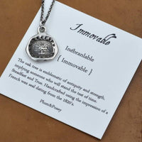 Immovable Oak Tree Wax Seal Necklace