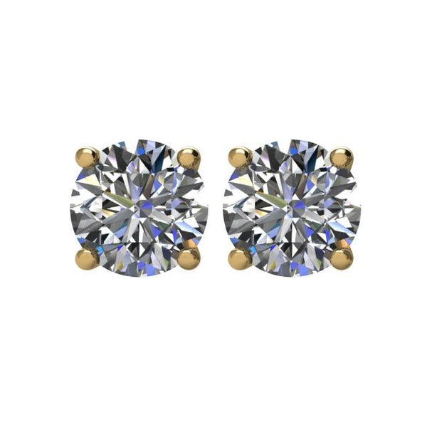 0.72ctw diamond earrings with screwback posts