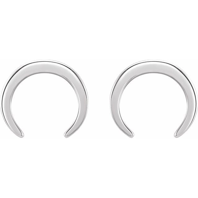 Sterling Silver 925 Crescent Earrings