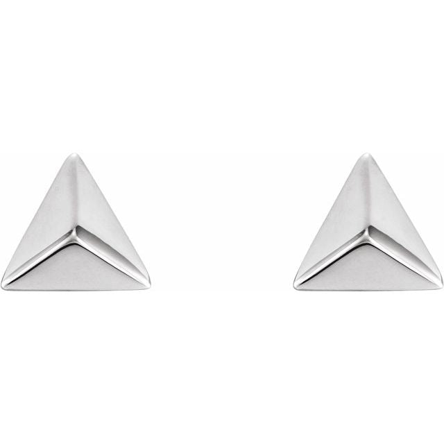 Sterling Silver 925 Pyramid Earrings