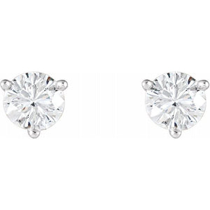 0.50ctw diamond earrings - three claw martini setting